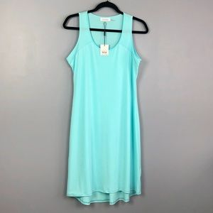 Calvin Klein High Low Aqua Tank Dress Size Small